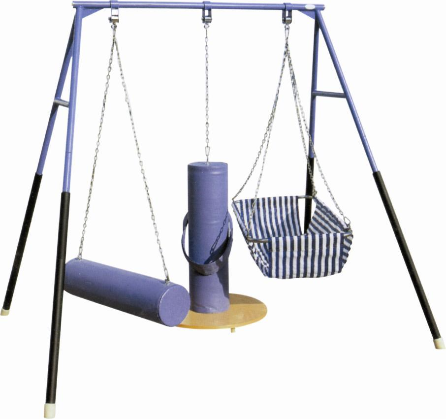 China a-Frame Triple Fun Metal Therapy Swings Set with Baby Swing ...