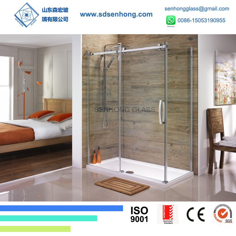 China Clear Swing Sliding Frameless Tempered Glass Shower Door