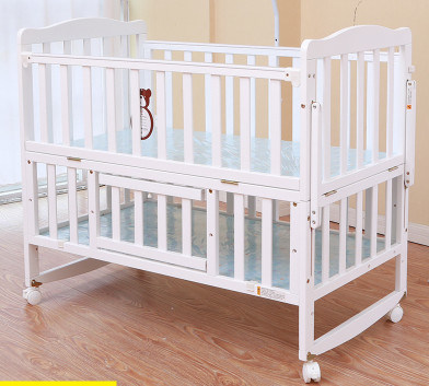 Solid Pine Wood Baby Bed with Cheap Price (M-X3018)