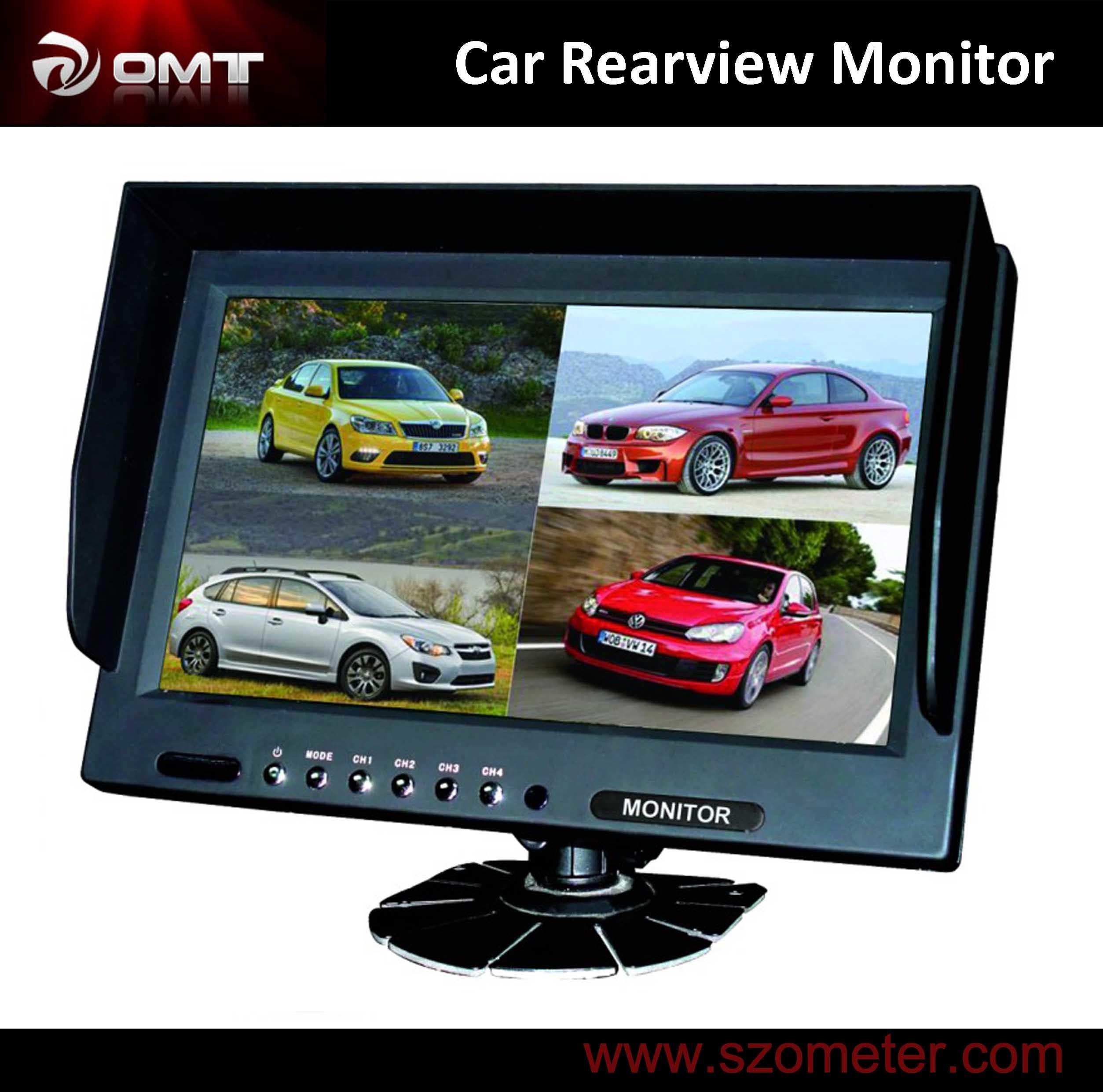 "Remote for Trcuk 9/"" TFT LCD Quad Split Car Reversing Monitor 4 CH Video in"