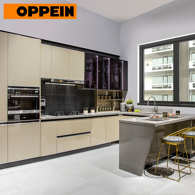 China Oppein Western Modern Wall Mounted Cabinets Built In Kitchen Cupboards China Kitchen Cupboards Cupboards