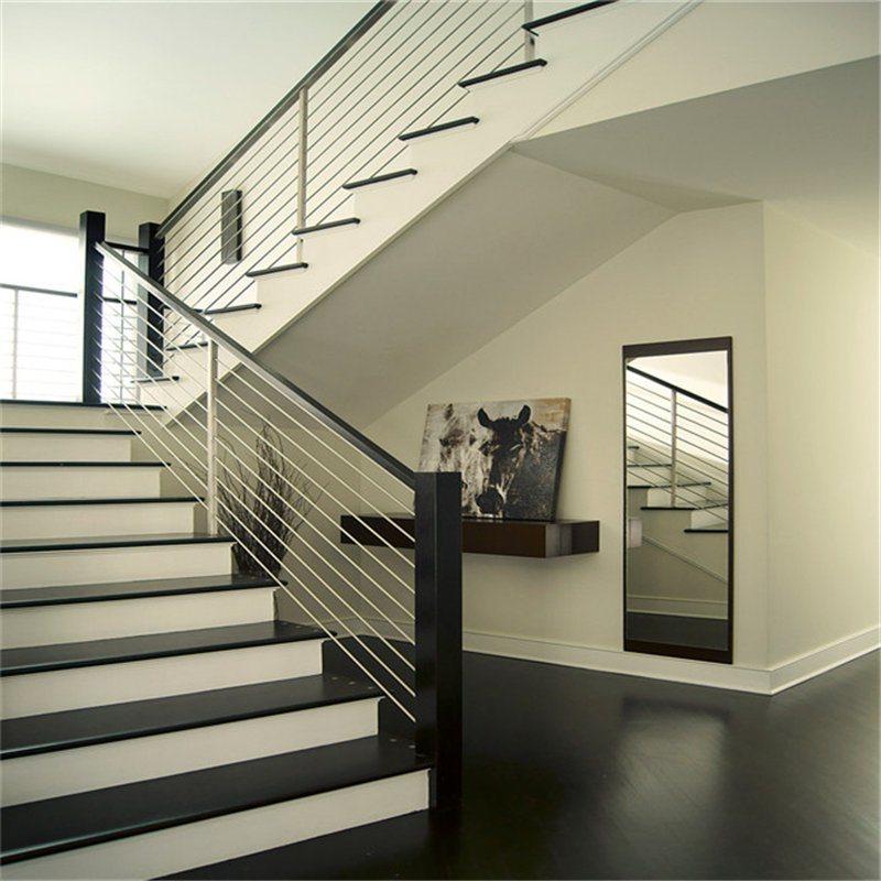 Stainless Steel Perforated Metal Indoor Stair Rod Railing
