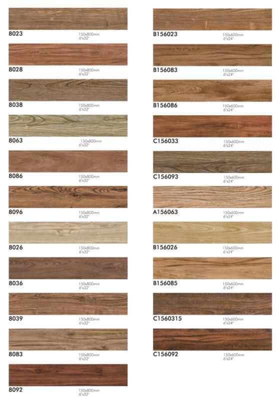 China 200x1000mm Roller Wood Grain Design Bedroom Ceramic Floor