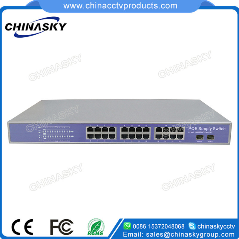 8 Port 10/100m BPS Network Poe Switch with 1 RJ45 Uplink Port Poe Switch (POE0810) pictures & photos