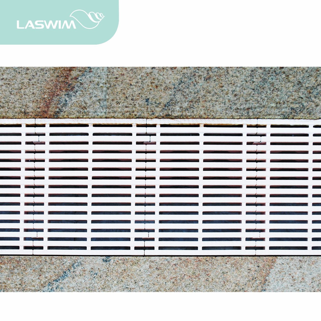 China Swimming Pool Plastic Abs Overflow Gutter Grating