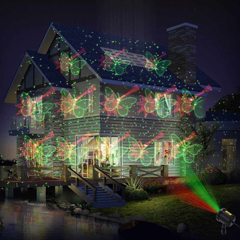 2018 bestseller cheap red and green moving laser points garden laser outdoor and indoor lawn yard christmas decoration lighting - Moving Outdoor Christmas Decorations
