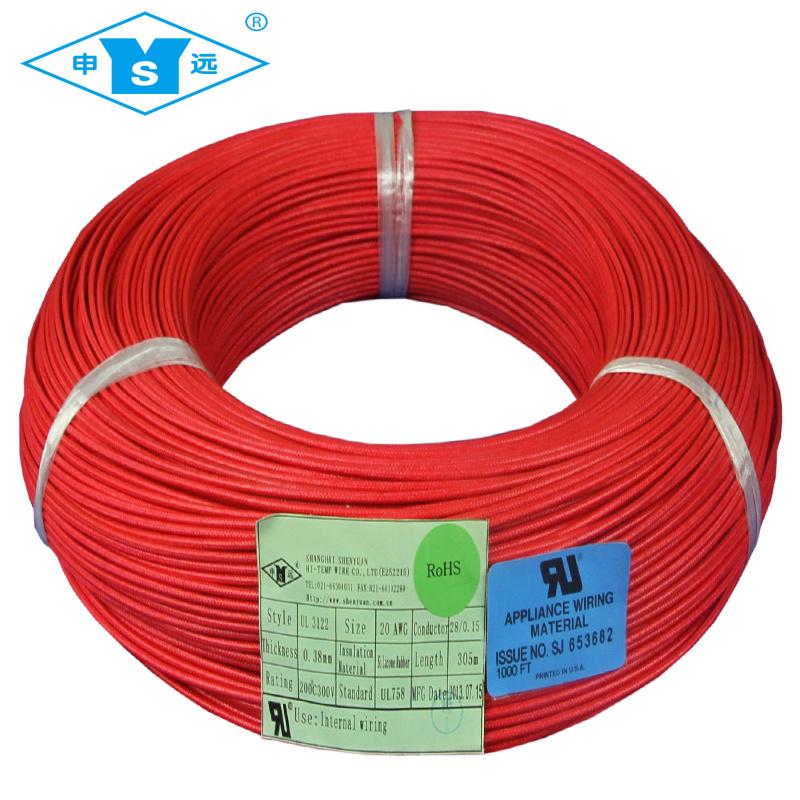 China UL3122 Fiberglass High Temperature Braid Silicone Wire - China ...