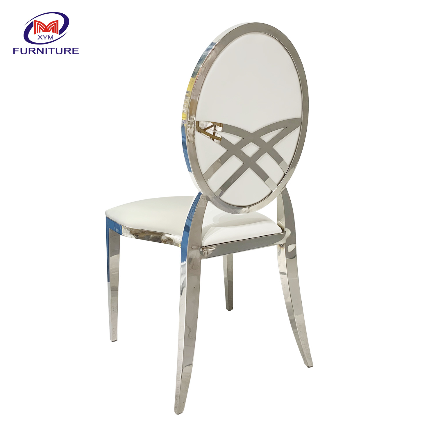 [Hot Item] Wedding Event Furniture Removable Round Back Stainless Steel  Chair