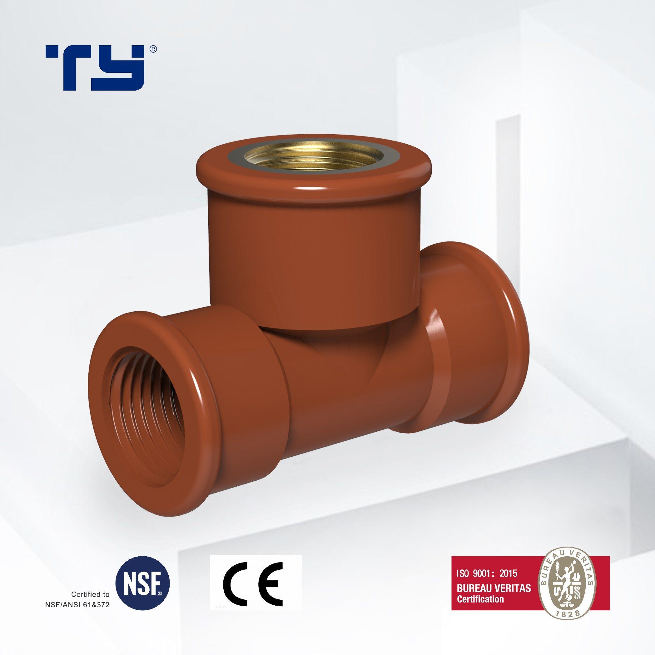 PP Female Tee BSP Pipe Fittings Polypropylene Plumbing Water