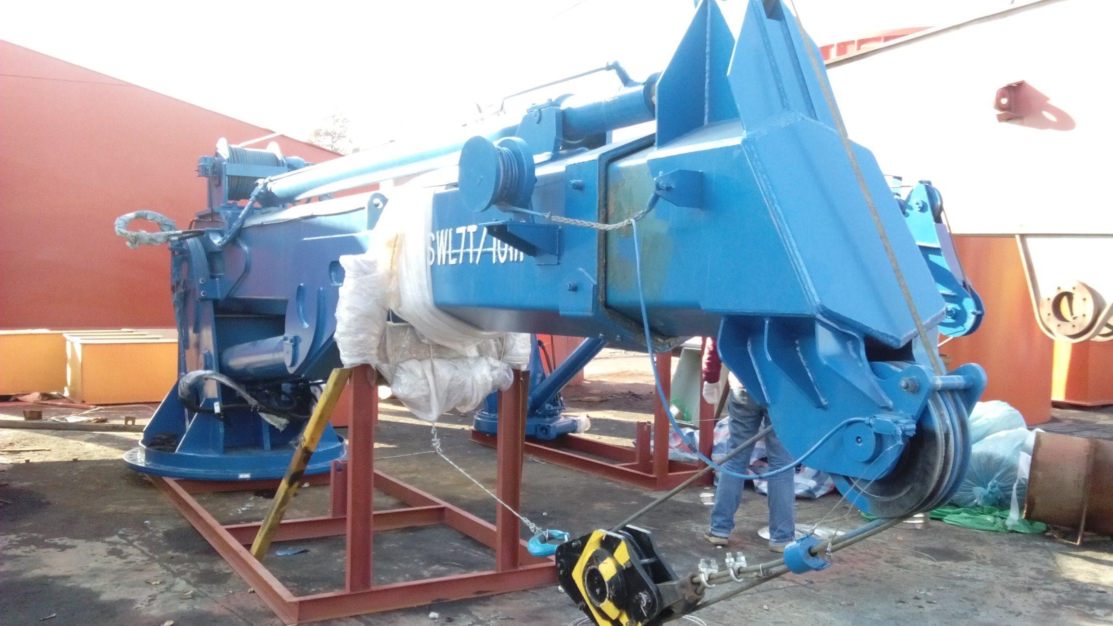 [Hot Item] 1 Ton/3 Ton/7 Ton Telescopic Boom Hydraulic Marine Deck Crane  for Sale