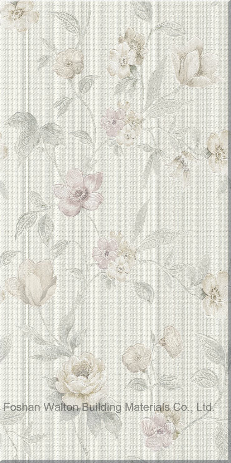 . Hot Item  Wall Paper Series Flower Decoration Ceramic Wall Tile with  Border for Bathroom