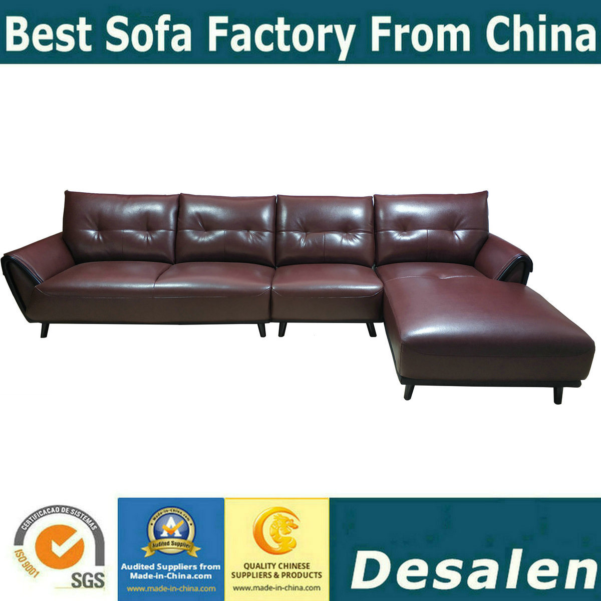 Wondrous Hot Item Brown Color Home Furniture L Shape Chaise Lounge Leather Sofa 8080 Cjindustries Chair Design For Home Cjindustriesco