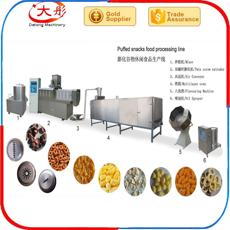 Automatic Twin Screw Extruder Food Snacks Machine pictures & photos