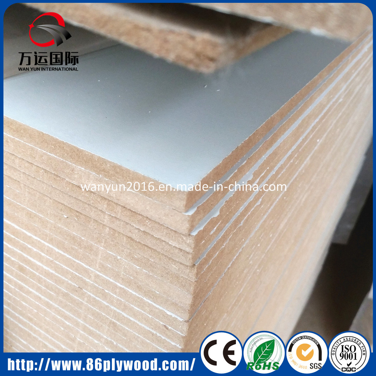 Waterproof Fiber Board Wood Texture Melamine Mdf 18mm