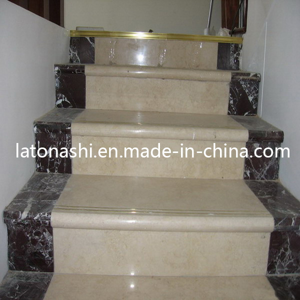 China Design Prefab Natural Marble Stone Straight Step Stairs For Indoor    China Tread, Steps