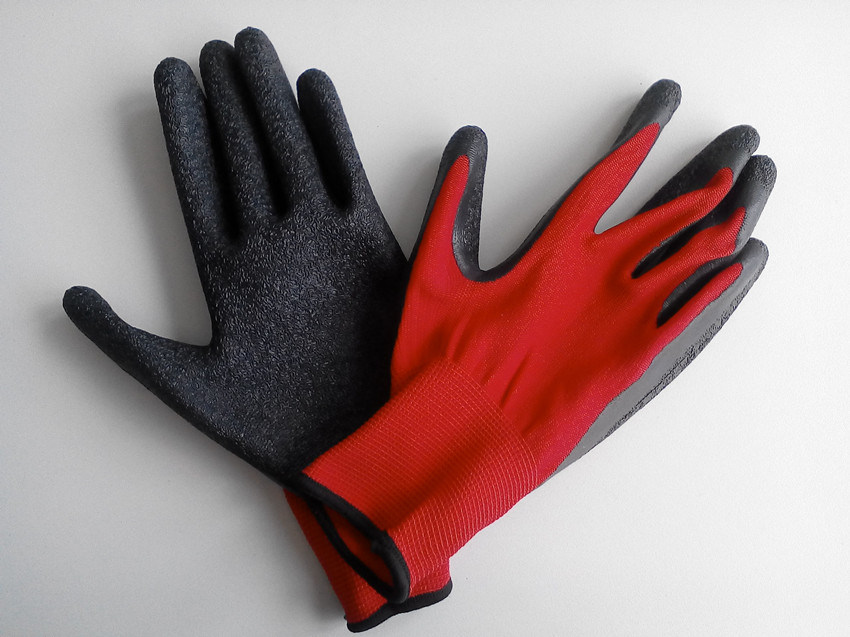 Polyester Shell Latex Coated Safety Work Glove (L1601)