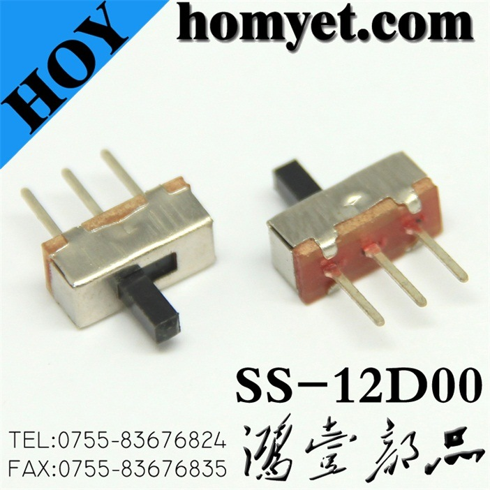 China Slide Switch with 3pin Straight DIP Type Toggle Switch (SS ...