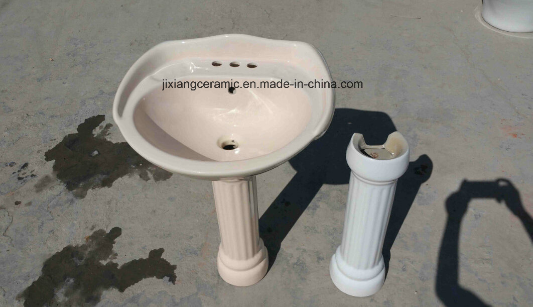 Ceramic Washbasin Pedestal 24inches with Saso/Ce