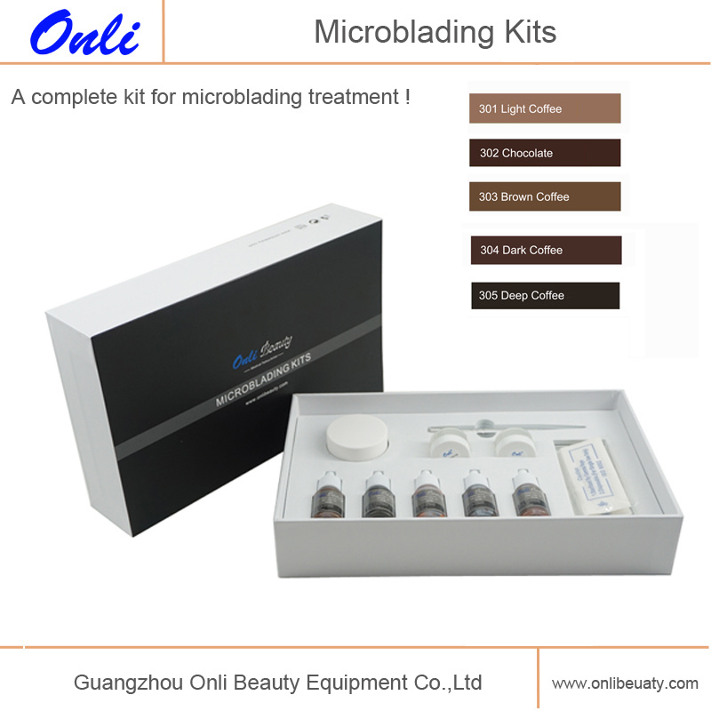 Microblading Kits for Permanet Makeup Eyebrow Beauty Manual Pen Kits Microblading Pigment