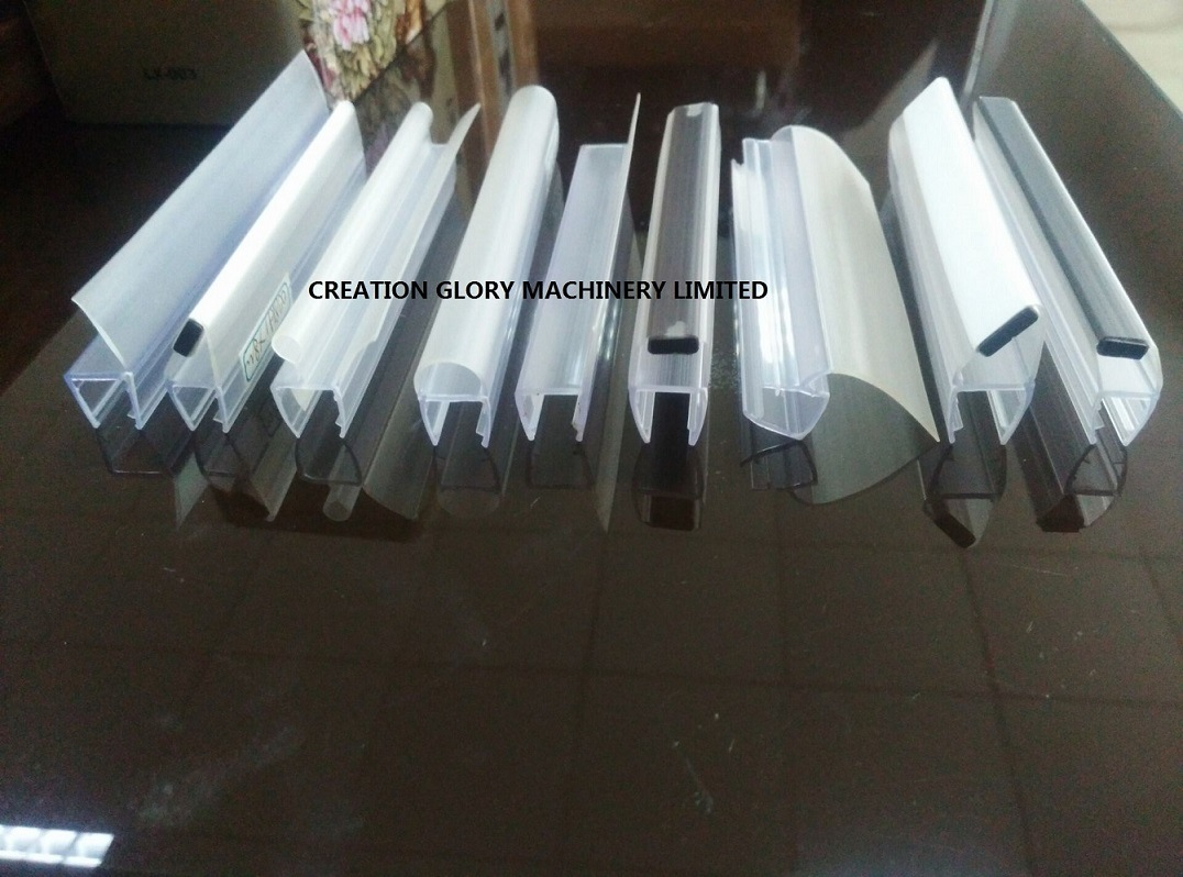 China Shower Door Magnetic Seal Strip Plastic Extrusion Production