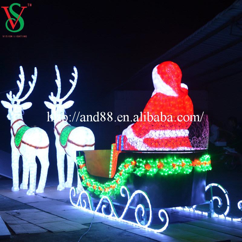 China Christmas Santa Sleigh And Deer