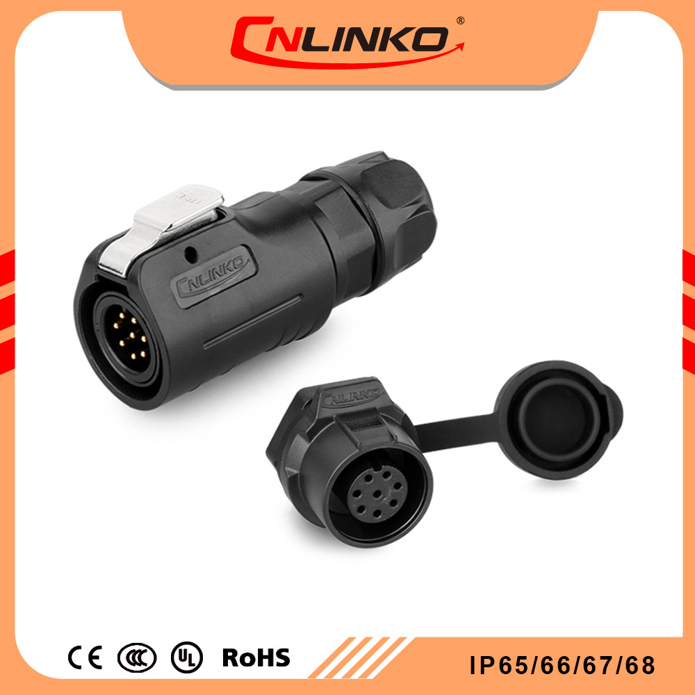 China Cnlinko Ul Approved Male Female Ac 8 Pin Connector Small Wire Socket Wiring Harness