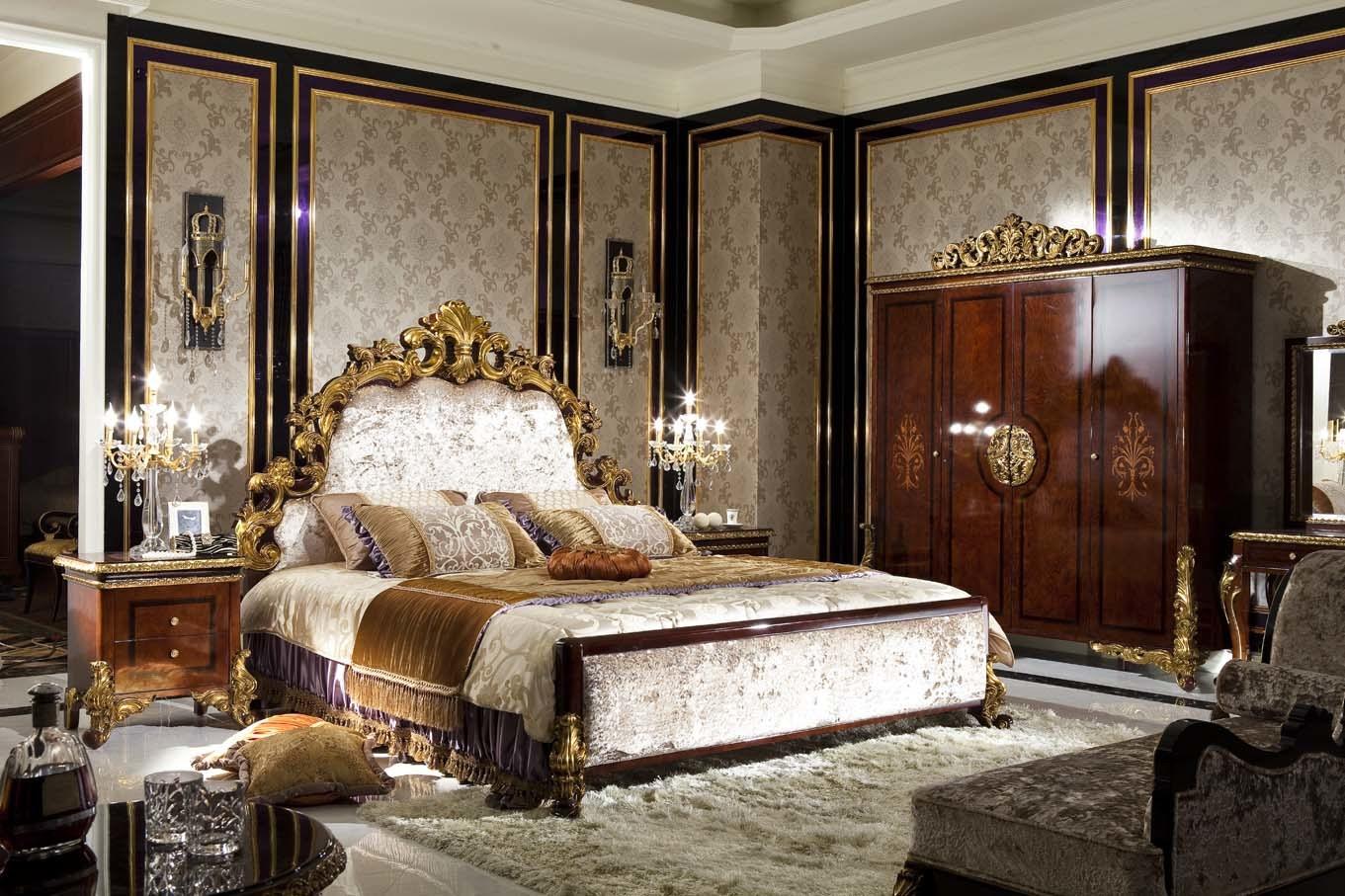 china 0063 italian solid wood luxury antique bedroom set