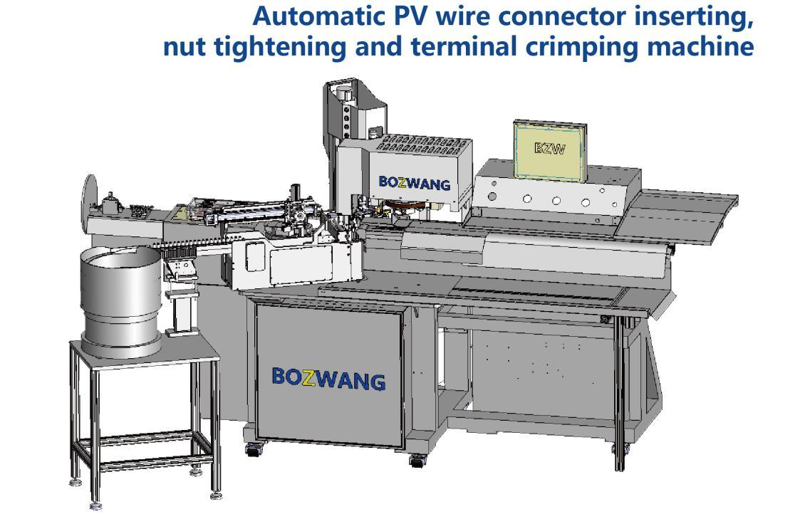 China PV-Wire Terminal Crimping Machine with Connector Inserting&Nut ...
