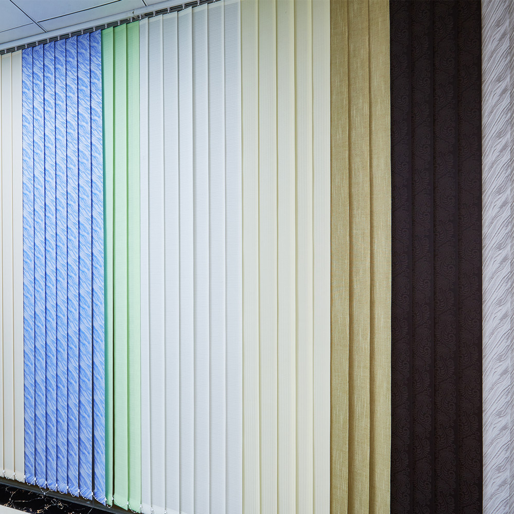Jacquard fabric vertical blinds for vertical window shades