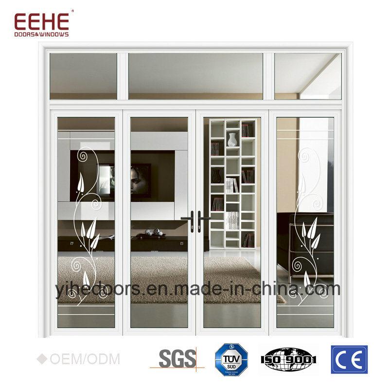 China Office Door with Glass Window White Aluminum Frame Doors ...