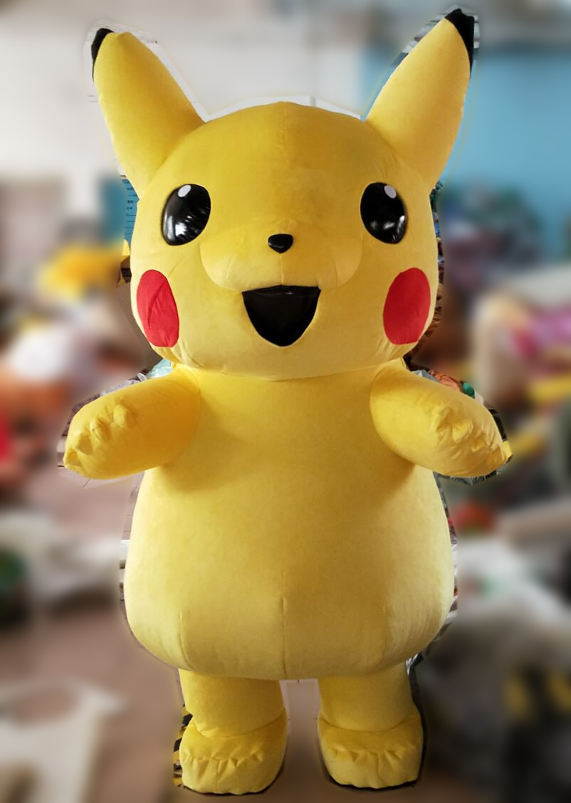 Super Soft Stuffed Animals For Babies, China Giant Funny Pikachu Cosplay Inflatable Mascot Costume Carnival Yellow Plush Pokemon Mascot Costume For Adults China Inflatable Costume And Plush Mascot Costume Price