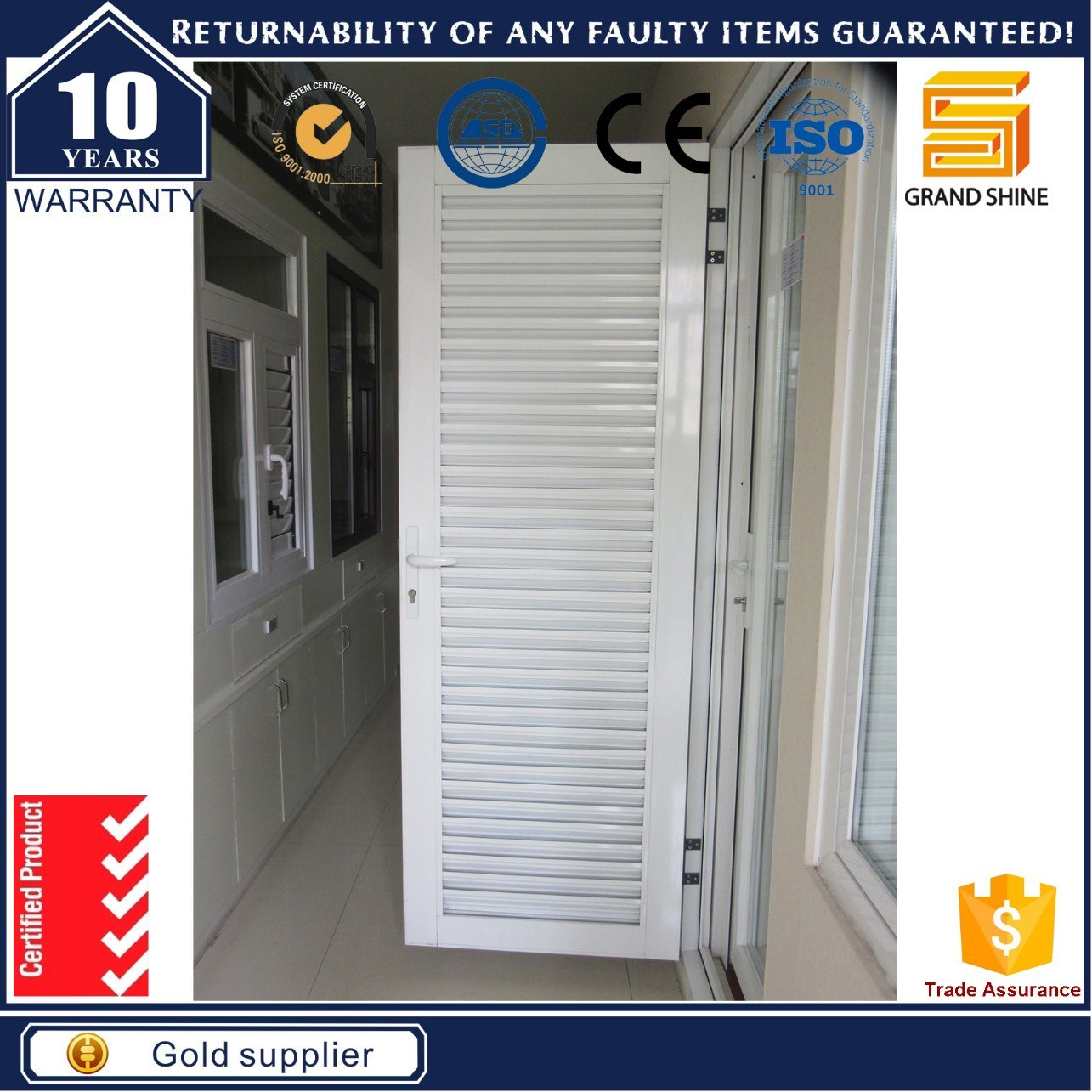 China Australia Standard Aluminium Glass Security Patio French Doors