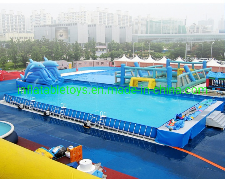 China Giant Collapsible Metal Frame Swimming Pool Photos ...