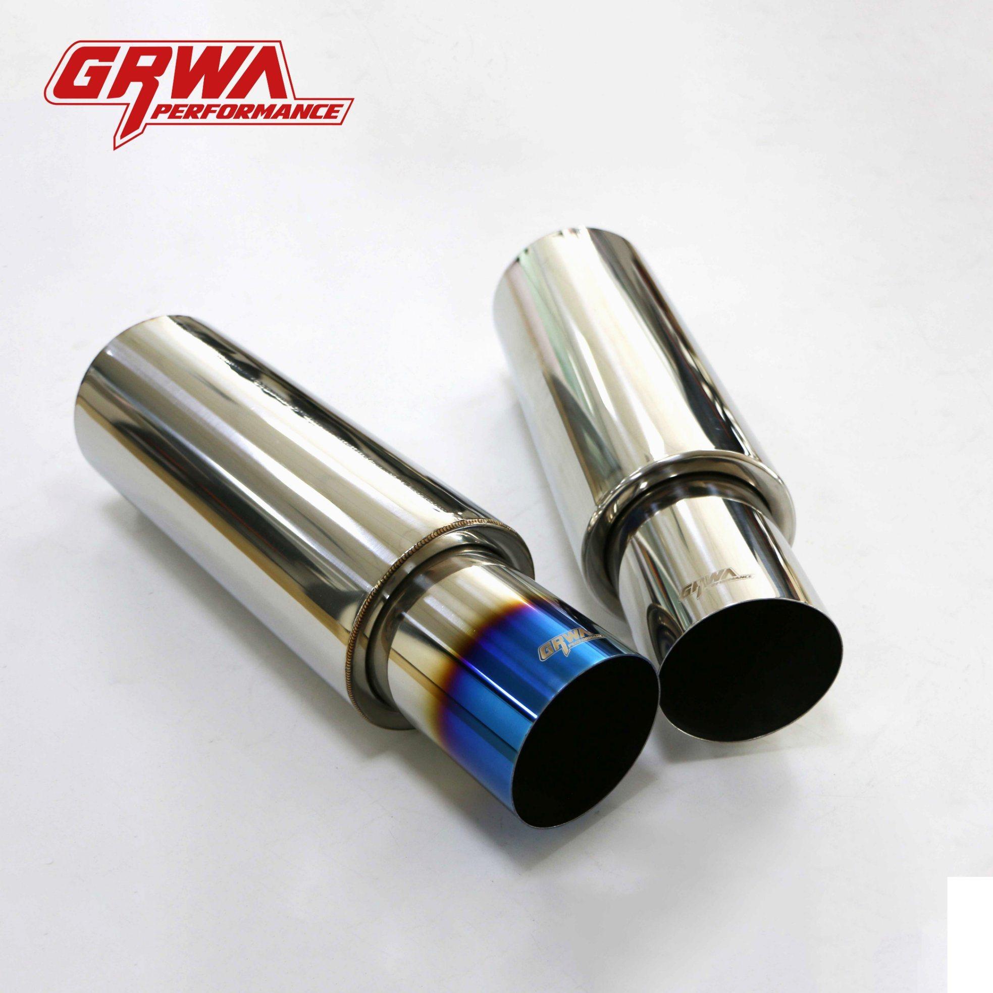 China Mirror Polished Tig Welding Laser Logo Exhaust Muffler Silencer China Muffler Shop Exhaust Muffler
