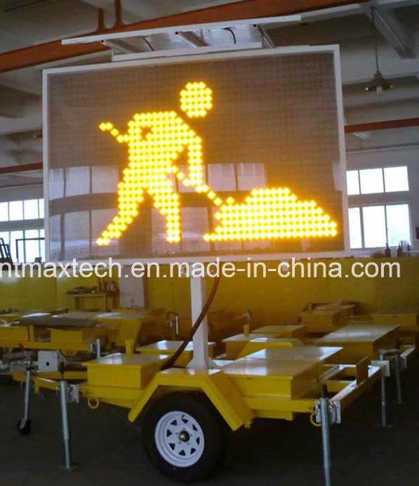 Trailer Mount Middle Size Variable Message Traffic Sign for Traffic Management and Control