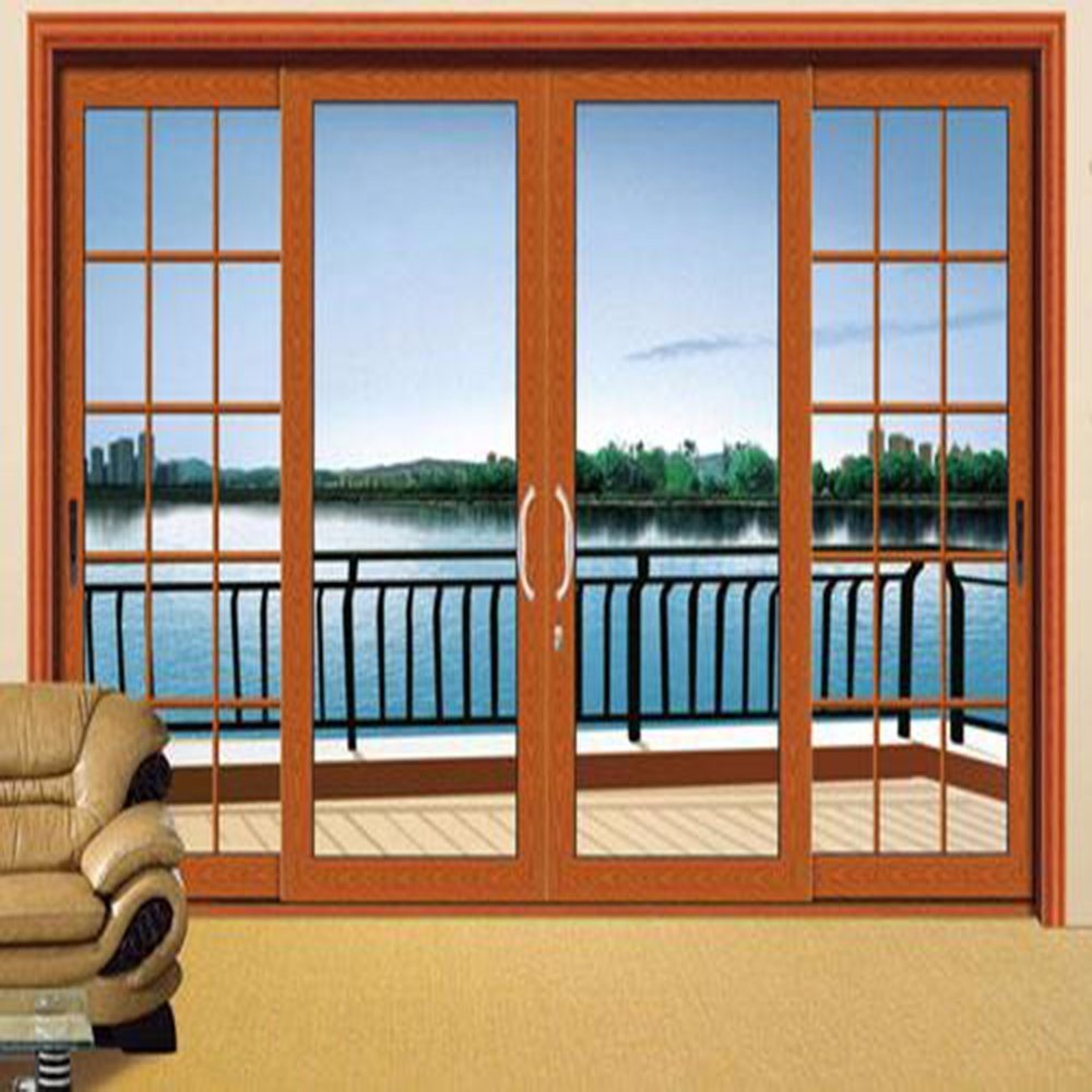 Buy From Factory Directly Aluminum Profile Frame Sliding Glass Door