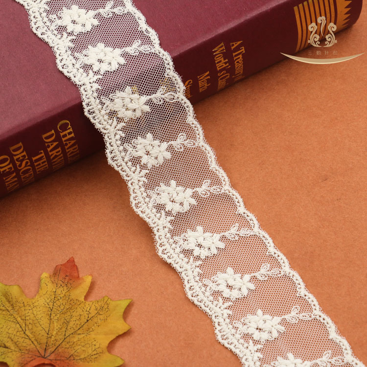 L30010 Cord Wedding Swiss Voile Chemical Lace Trim pictures & photos