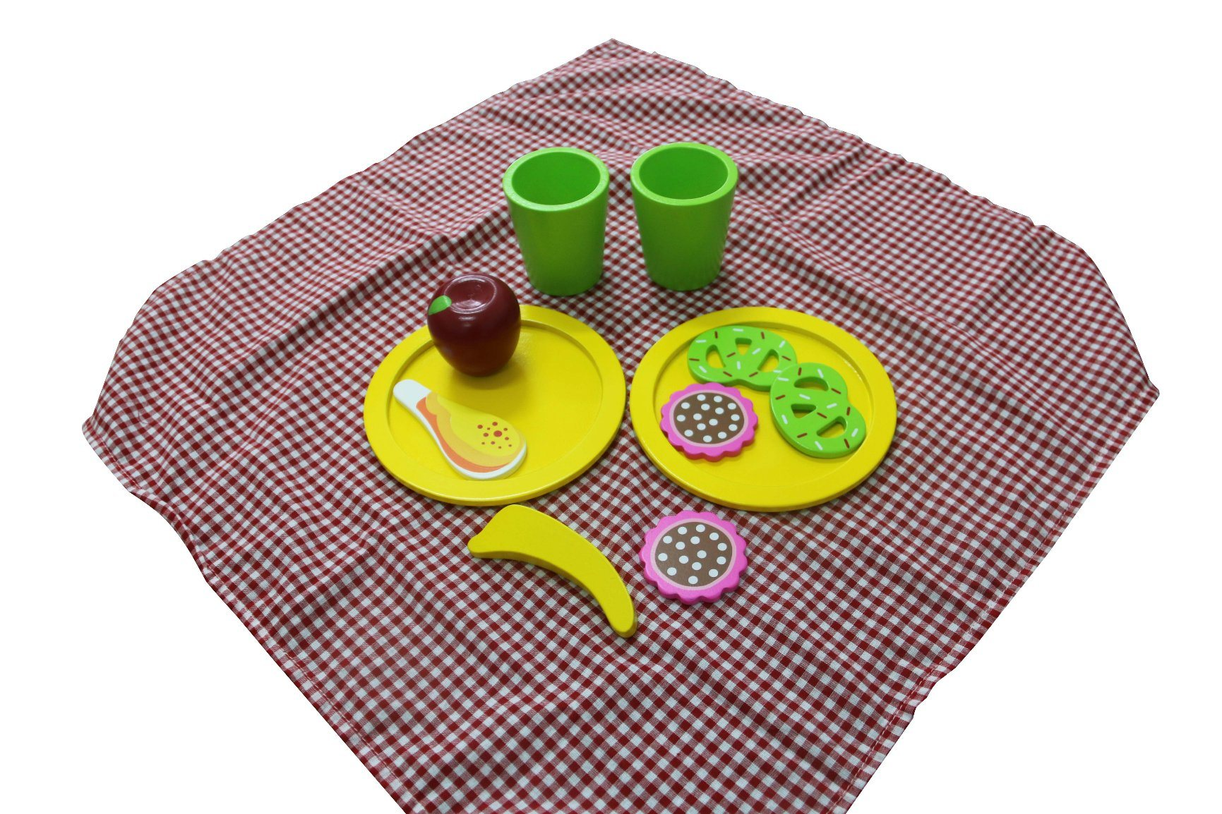 12PCS Wooden Picnic Set Toy for Kids and Children