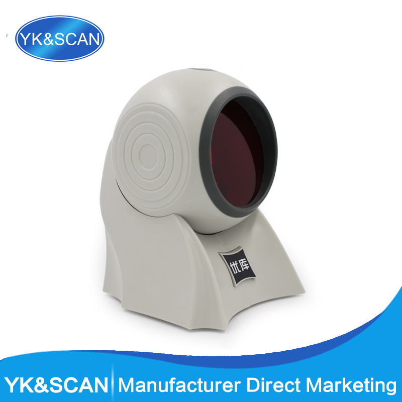 YK-8120 Mini Omnidirectional Handfree Laser Barcode Reader with RS232 Port