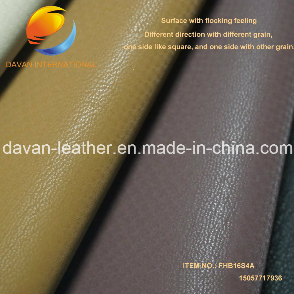 Silky Swede Flocking Feeling Synthetic Leather for Bags Shoes 2016 Hot