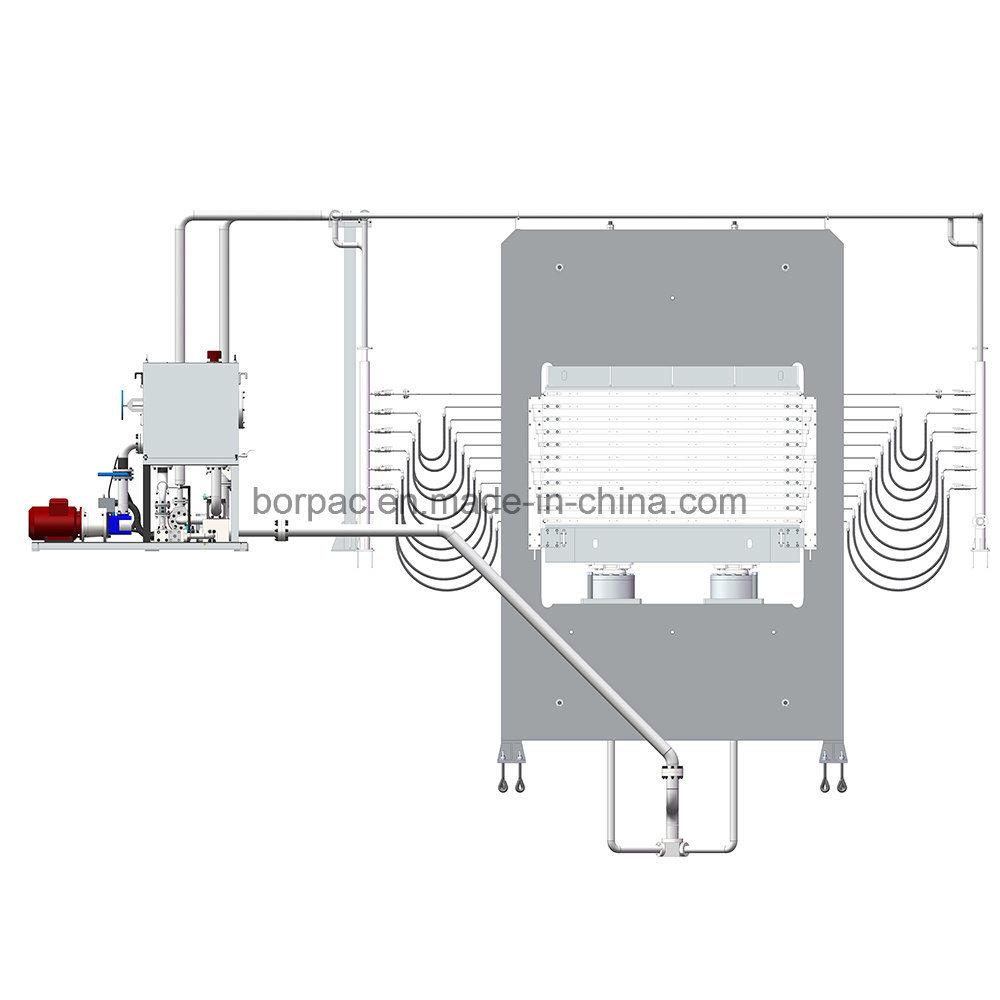 China Melamine Plywood Board Multilayer Hot Press Machine Wiring