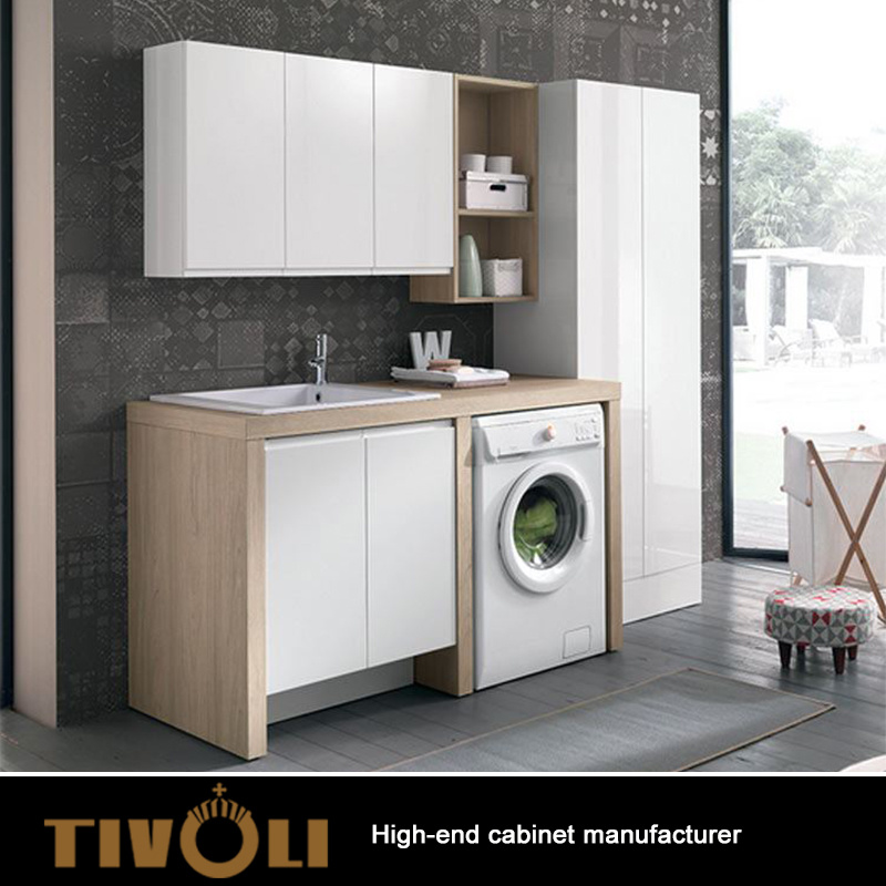 European Kitchen Cabinets Wholesale: China MDF Laundry Cabinet Customized Design For Wholesale