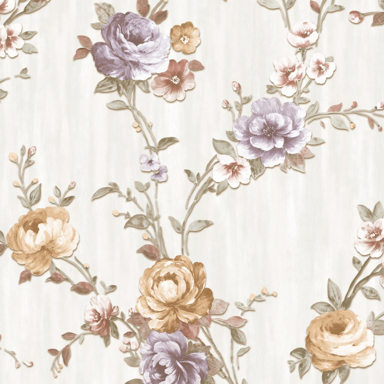 China Cheap Floral Vinyl Wallpaper For Decoration Building