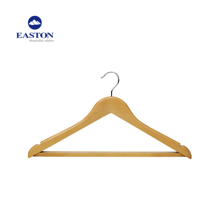 China Clothes Wooden Male Hanger For With Non Slip Teeth Femal