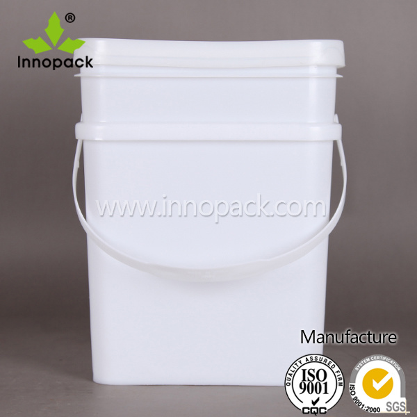[Hot Item] 6 5 Gallon Heavy Duty Square Plastic Bucket with Tamper Proof  Gasket Lid