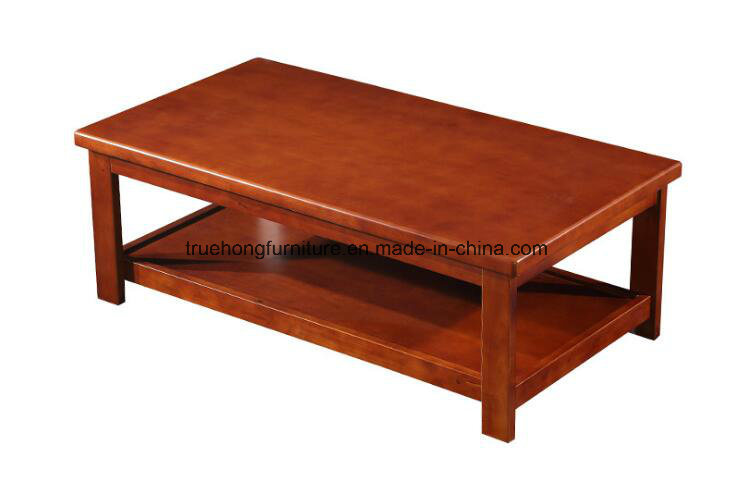 [Hot Item] Wooden Furniture Coffee Table Set Manufacturer Living Room Sofa  Table Set Long Tea Table Solid Wood