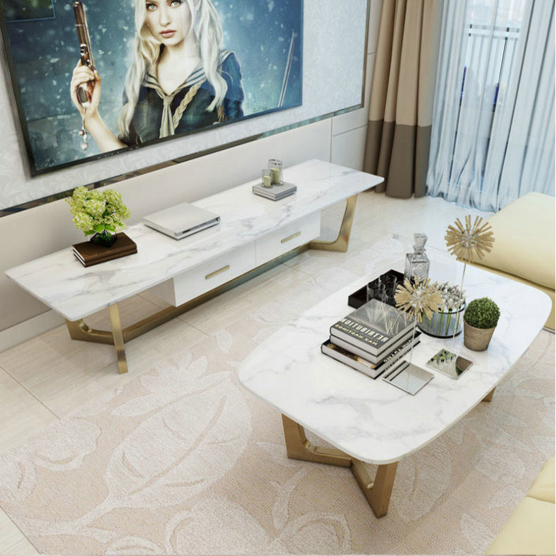 Hot Item Marble Coffee Table Tv Stand Dinner With Chairs Living Room Furniture Sets 07