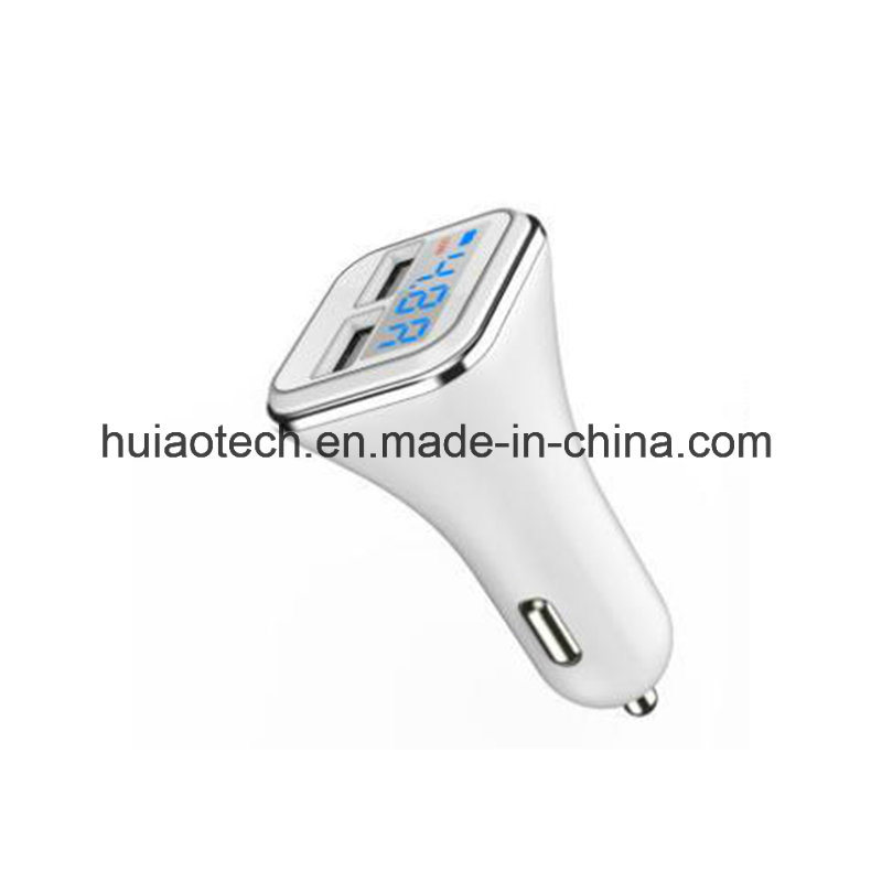 China New Car Cigarette Lighter Charger With Usb Port And Display
