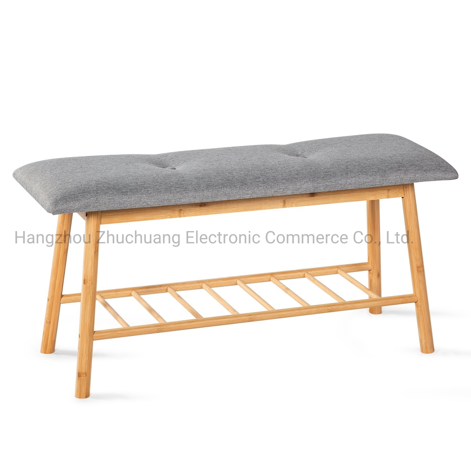 Picture of: China Extra Large Size Bamboo Entryway Shoe Rack Storage Bench With Soft Cushion China Shoe Rack Bench Bamboo Shoe Bench