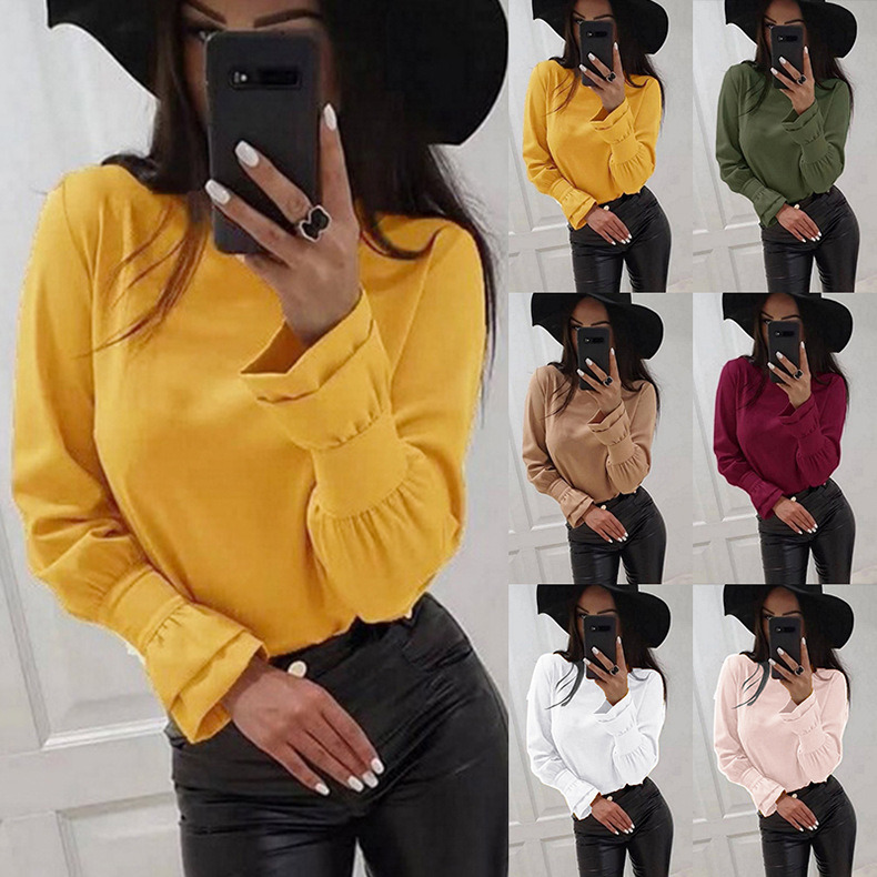 China Fancy Long Sleeves Ladies Tops New Design Women Clothes Women Fashion Chiffon Blouse China Blouse And Ladies Blouse Price